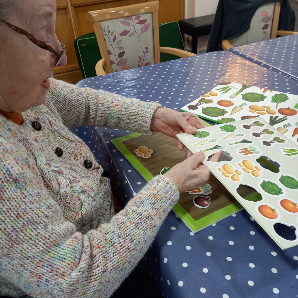 Moorside resident with allotment activity